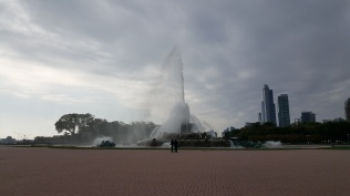 The Buckingham Fountain is huge!